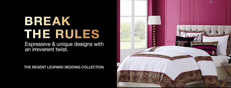 Break The Rules, The Regent Leopard Bedding Collection