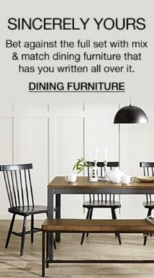 Sincerely Yours, Bet Against The Full Set With Mix And Match Dining  Furniture That Has