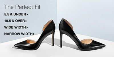 The Perfect Fit, 5.5 and Under, 10.5 and Over, Wide Width, Narrow Width