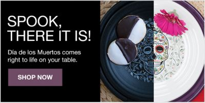 Spook There it is! Dia de Ios Muertos comes right to life on your table, Shop Now