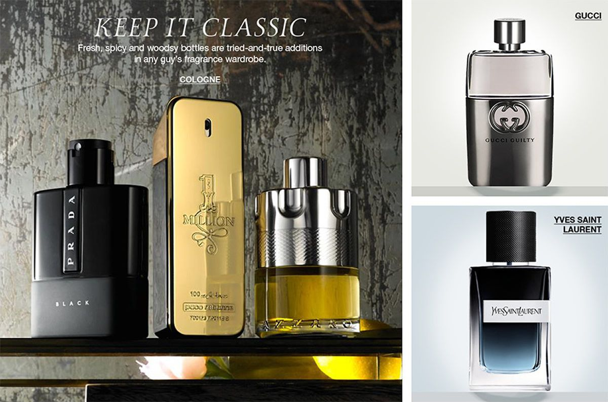 Keep it Classic, Fresh spicy and woody bottles are tried-and-true additions in any guy's fragrance wardrobe, Cologne, Gucci, Yves Saint Laurent