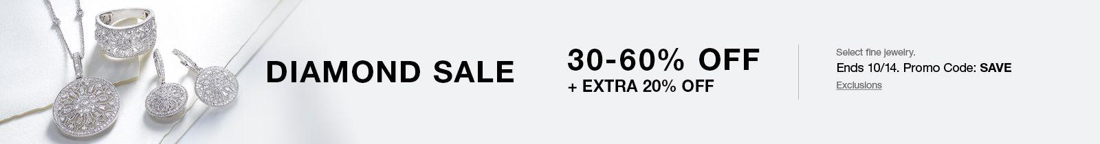 Diamond Sale, 30-60 percent off plus Extra 20 percent off