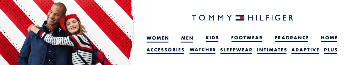 Tommy Hilfiger, Women, Men, Kids, Footwear, Fragrance, Home, Accessories, Watches, Sleepwear, Intimates, Adaptive, Plus