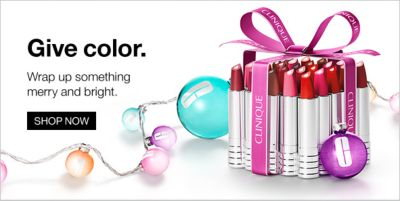 Give color, Wrap up something merry and bright, Shop now