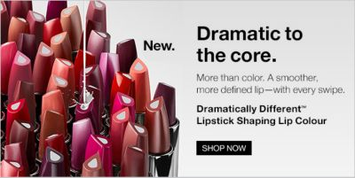 New, Dramatic to the core, More than color, a smother more defined lip-with every swipe, Dramatically different Lipstick Shaping Lip Colour, Shop now