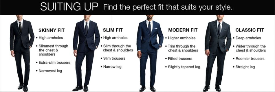 6bf2c06dd Suiting up, Find The perfect fit that suits your style, Skinny Fit, Slim