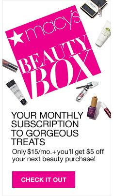 Your Monthly Subscription to Gorgeous Treats, Only $15/mo +you'll get $5 off your next beauty purchase! Check it Out