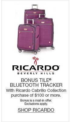 Ricardo, Bonus Tile Bluetooth Tracker, with Ricardo Cabrillo Collection purchase of $100 or more, Shop Ricardo