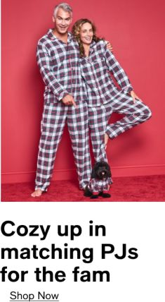 Cozy up in matching PJs for the fam, Shop Now