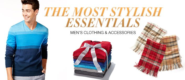 The Most Stylish Essentials, Men's Clothing and Accessories