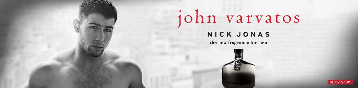 John Varvatos, Nick Jonas, the new fragrance for men, Shop Now
