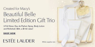 Created for Macy's, Beautiful Belle Limited Edition Gift Trio, Shop Now, Estee Lauder