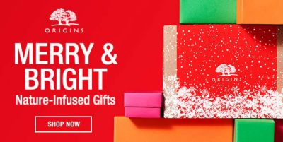 Origins, Merry and Bright Nature-Infused Gifts, Shop Now