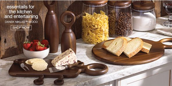 Essential for the kitchen and entertaining, Dansk Niklas Wood, Shop Now
