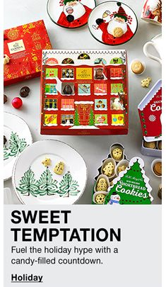 Sweet Temptation, Fuel the holiday hype with a candy-filled countdown, Holiday