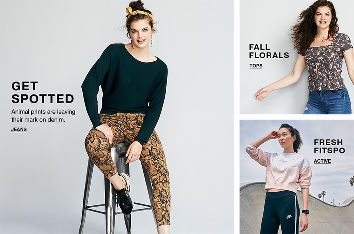 Get Spotted, Animal prints are leaving their mark on denim, Jeans, Fall Florals, Tops, Fresh Fitspo, Active