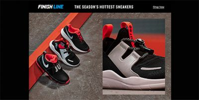 Finish Line, The Season's Hottest Sneakers, Shop Now