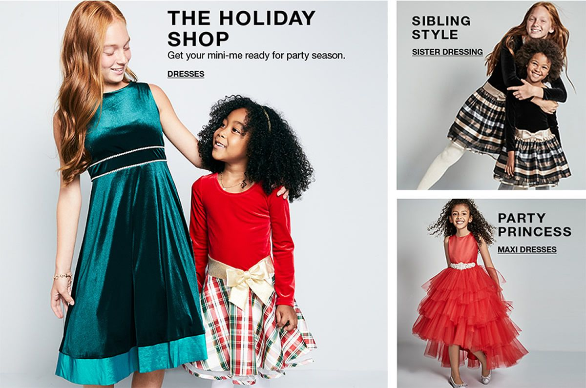 The Holiday Shop, Get your mini-me ready for party season, Dresses, Sibling Style, Sister Dressing, Party Princess, Maxi Dresses
