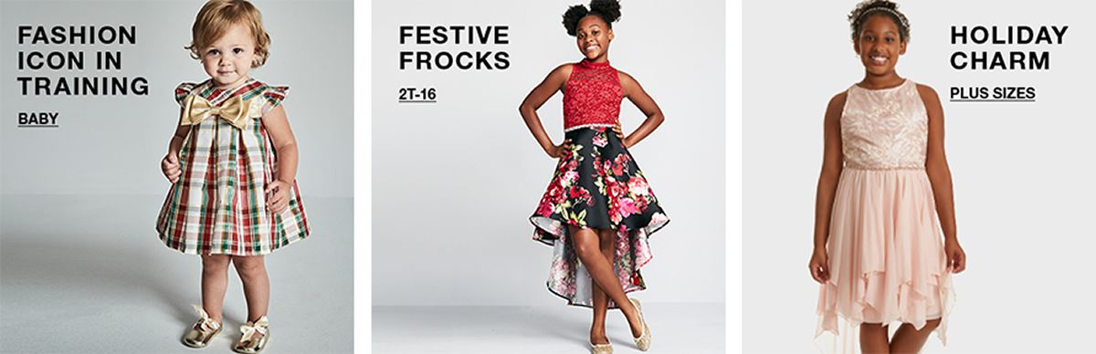 Fashion Icon in Training, Baby, Festive Frocks, 2t-16, Holiday Charm, Plus Sizes
