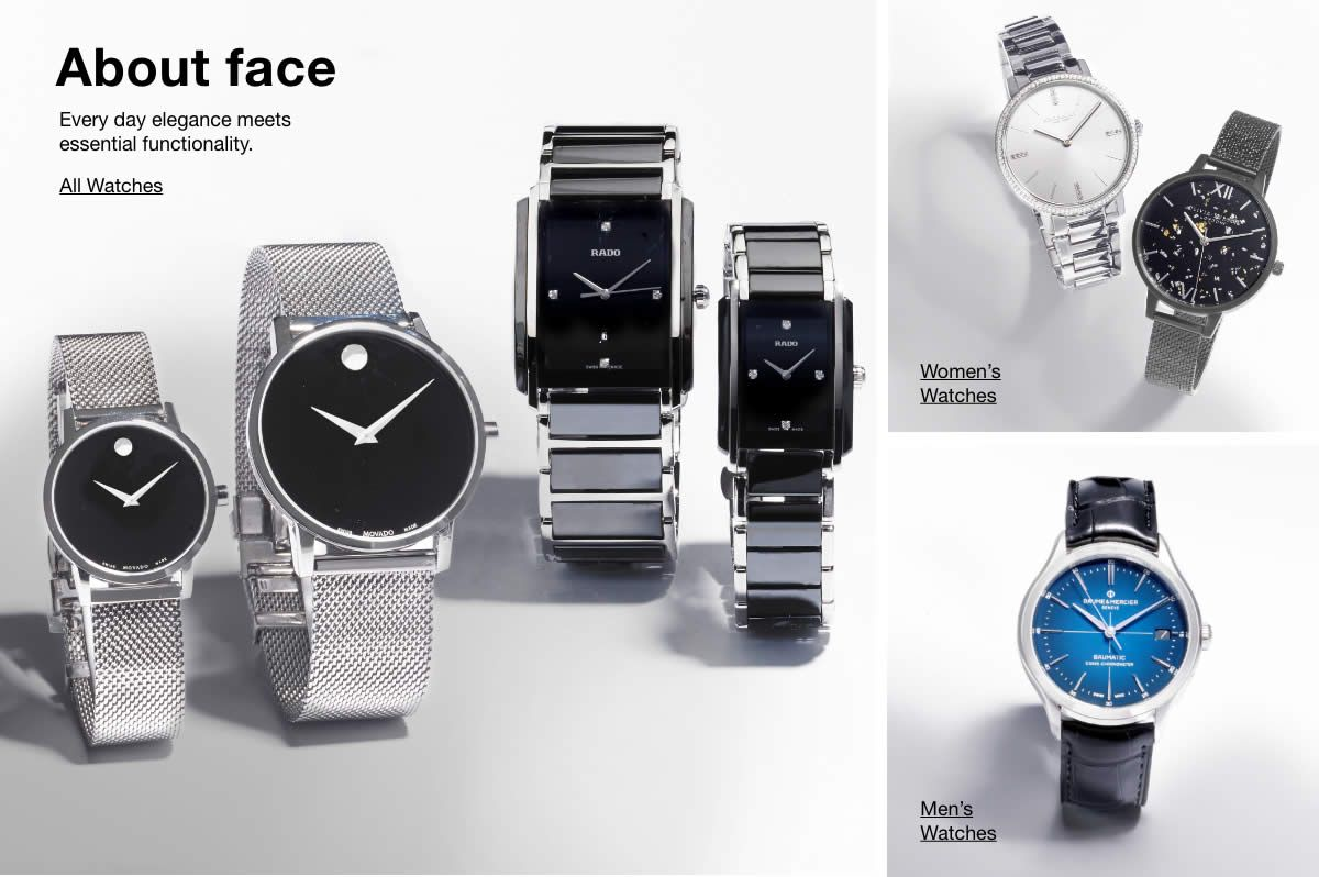 About face, All Watches, Women's Watches, Men's Watches