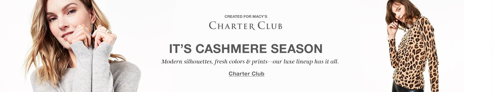 Created For Macy's, Its Cashmere Season, Charter Club