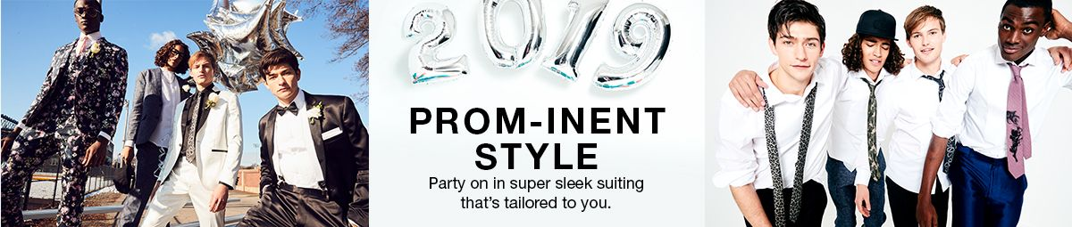 Prom-Inent Style, Party on in super sleek suiting that's tailored to you