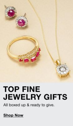 Top Fine Jewelry Gifts, All boxed up and ready to give, Shop Now