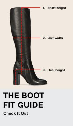 1. Shaft Height, 2. Calf width, 3. Heel height, The Boot Fit Guide, Check it Out