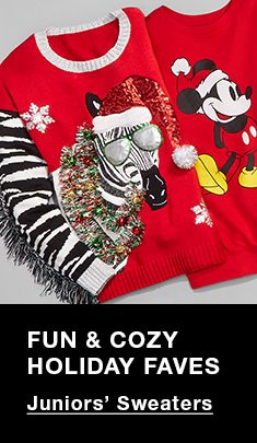 Fun and Cozy Holiday Faves, Juniors' Sweaters
