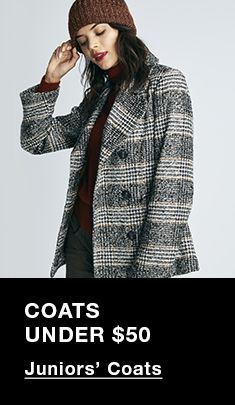 Coats Under $50, Juniors' Coats