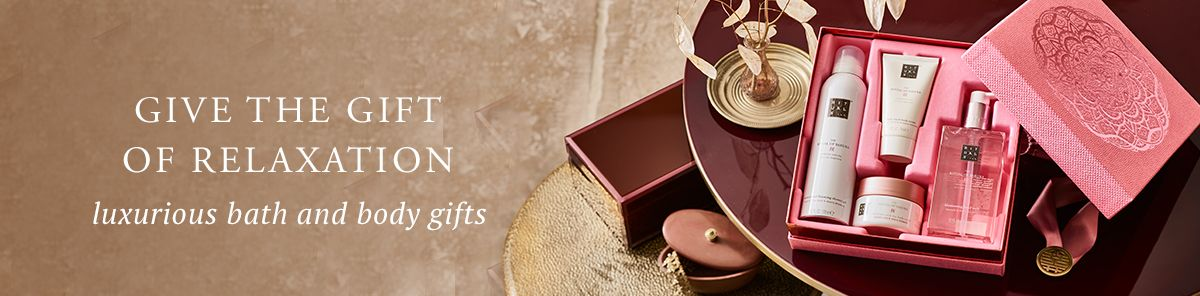 Give The Gift of Relaxation, Luxurious bath and body gifts