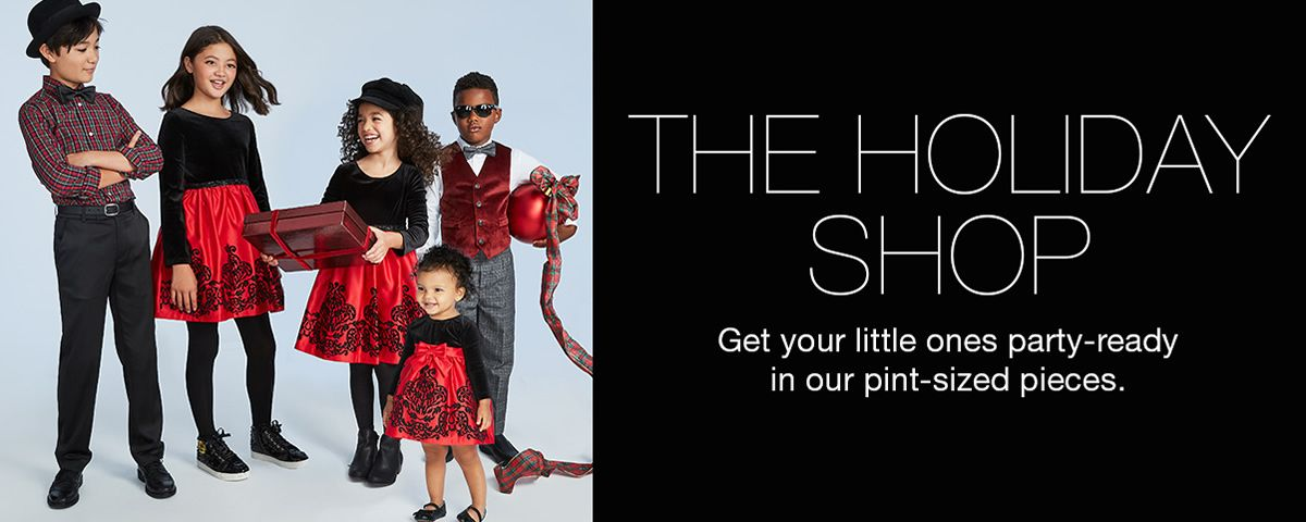 The Holiday Shop, Get Your little ones party-ready in our pint-sized pieces