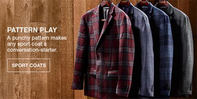 Pattern Play, a punchy pattern makes any sport coat a conversation-starter, Sport Coats