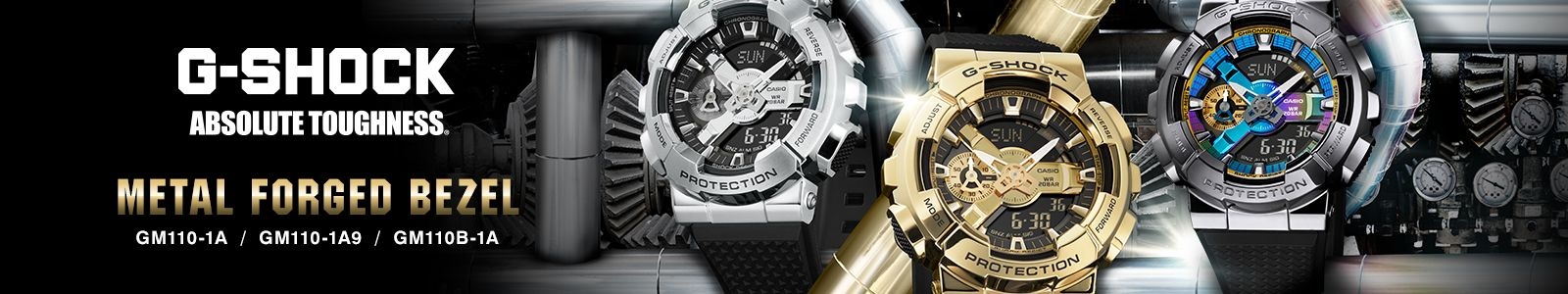 G-Shock, Absolute Toughness, Metal Forged Bezel, GM110-1A / GM110-1A9 / GM110B-1A