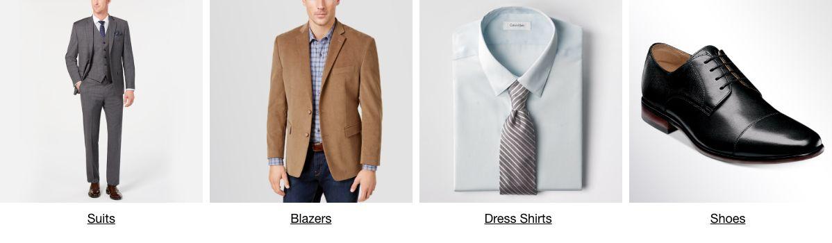 Suits, Blazers, Dress Shirts, Shoes