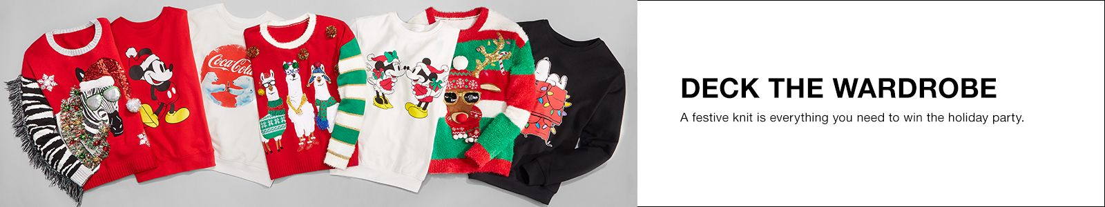 Deck The Wardrobe, a festive knit is everything you need to win the holiday party