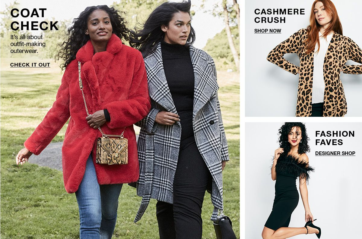 Coat Check, It's all about outfit-making outerwear, Check it Out, Cashmere Crush, Shop Now, Fashion Faves, Designer Shop
