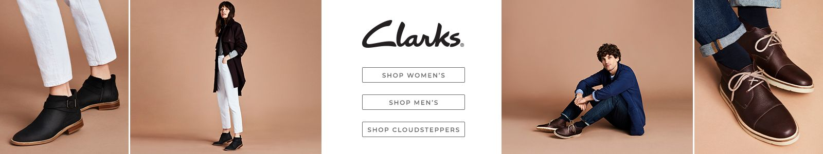 Clarks, Shop Women's, Shop Men's, Shop Cloudsteppers