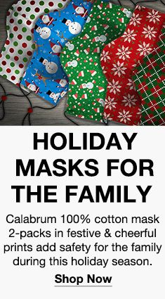 Holiday Masks For The Family, Shop Now