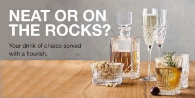 Neat or on The Rocks? Your drink of choice served with a flourish