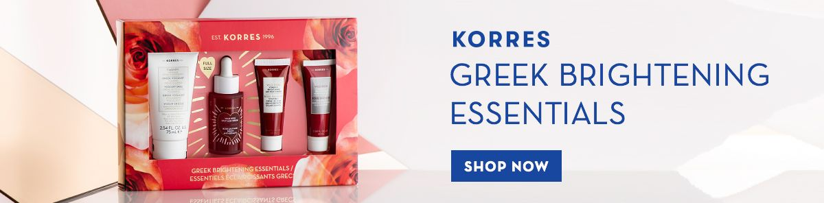 Korres, Greek Brightening Essentials, Shop Now