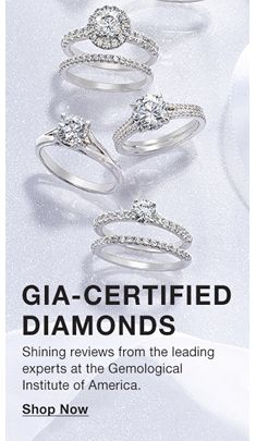 Gia-Certified, Diamonds, Shining reviews from the leading experts at the Gemological Institute of America, Shop Now