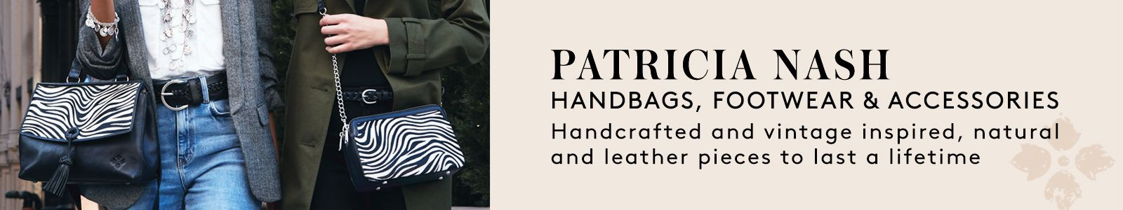Patricia Nash, Handbags, Footwear and Accessories, Handcrafted and vintage inspired, natural and leather pieces to last a lifetime
