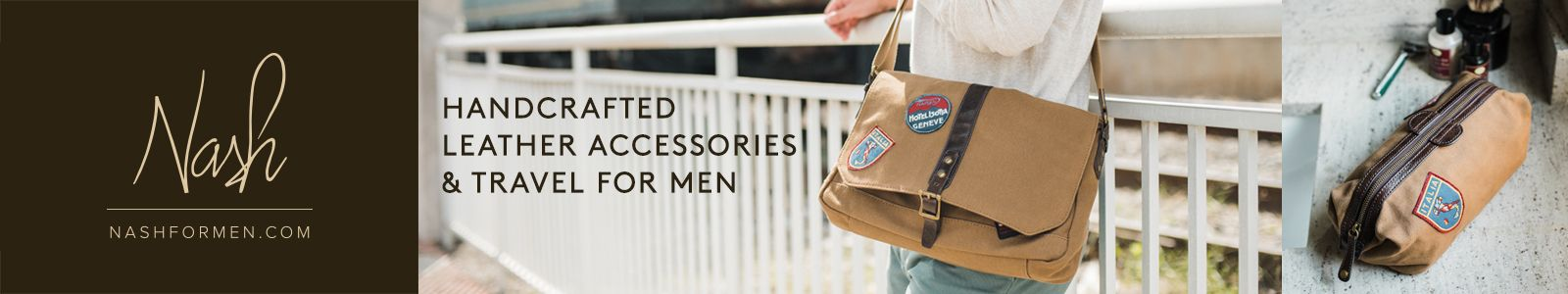 Nash, Handcrafted Leather Accessories and Travel for Men