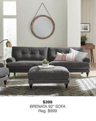 "$399 Brenata 92"" Sofa"