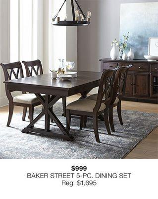 Baker Street 5-Piece, Dining Set