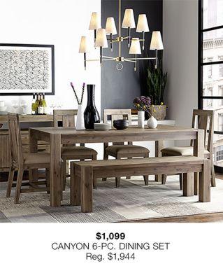 $1,099 Canyon 6-Piece, Dining Set