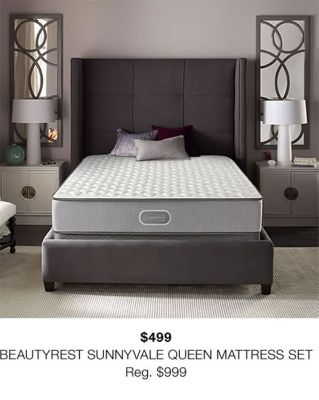 $499 Beautyrest Sunnyvale Queen Mattress Set