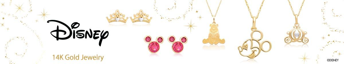 Disney, 14k Gold Jewelry