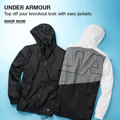 Under Armour, Top off your knockout look with easy jackets, Shop Now